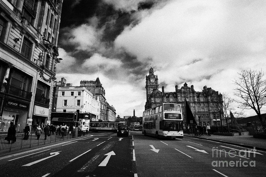 Princes Photograph - Princes Street Edinburgh Scotland by Joe Fox