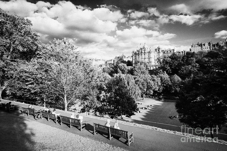 Princes Photograph - Princes Street Gardens In Edinburgh City Centre Scotland Uk United Kingdom by Joe Fox