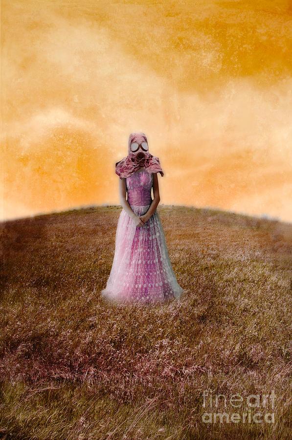 Lady Photograph - Princess In Gas Mask by Jill Battaglia