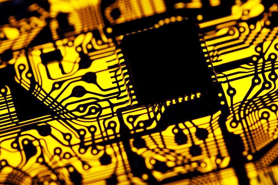 Printed Circuit Board Photograph - Printed Circuit Board, Artwork by Pasieka