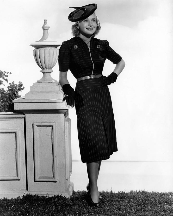 1930s Fashion Photograph - Priscilla Lane, 1938 by Everett