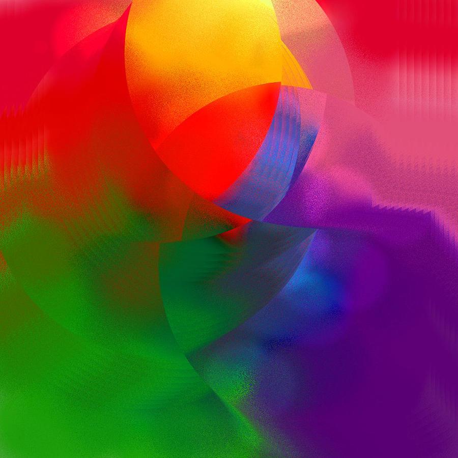 Digital Artwork Painting - Prism 2-1 by Ric Washington