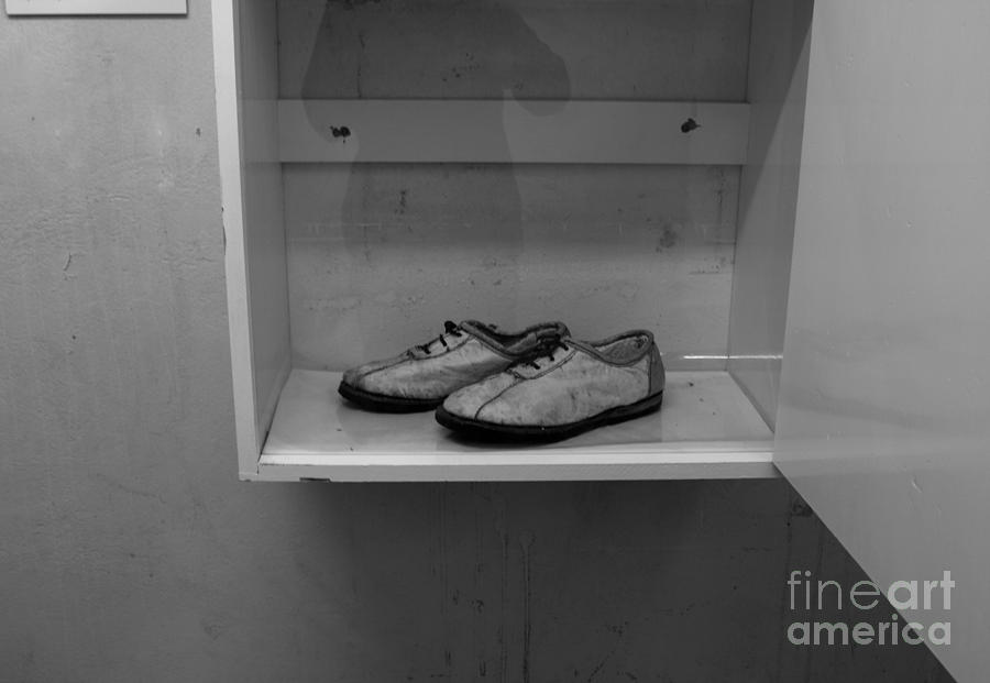 Robben Island Photograph - Prisoners Shoes  by Aidan Moran
