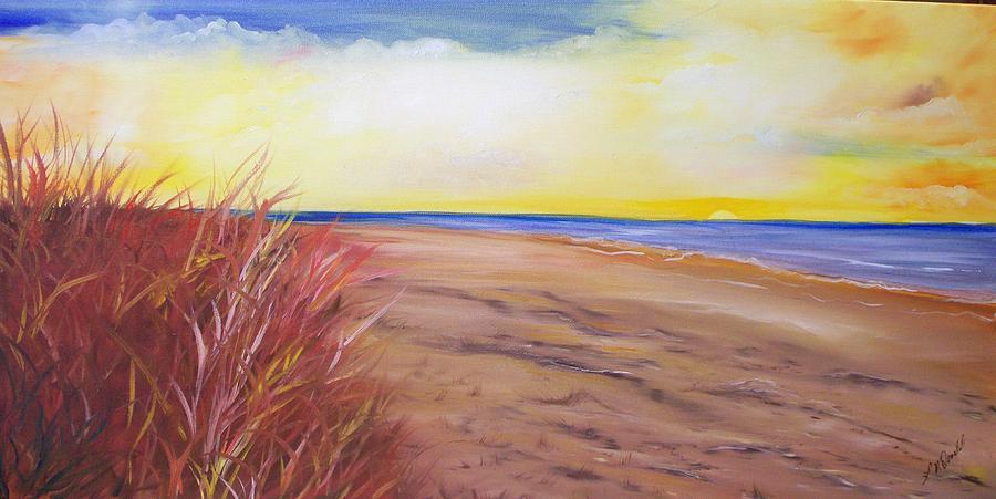 Private Beach Painting by Lynda McDonald