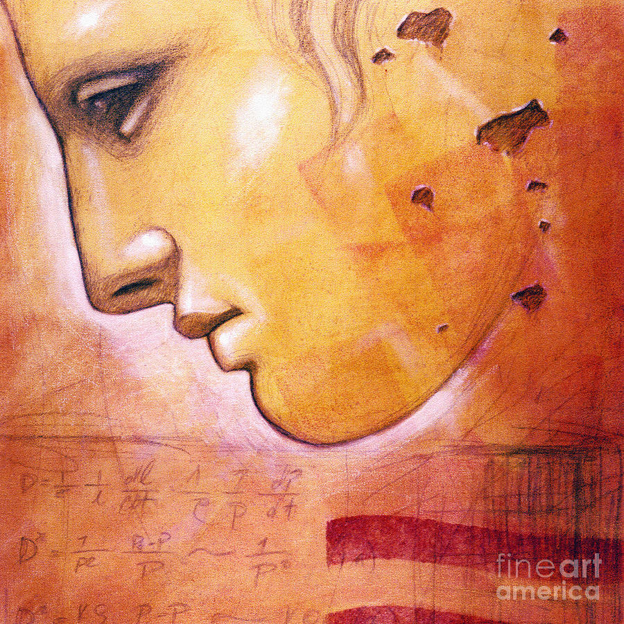 Statue Painting - Profile With Einstein Equation by Chris Bradley
