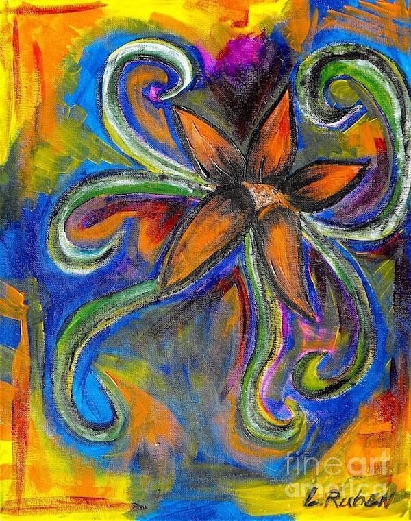 Flower Painting - Progressive Flora by Laura Ruben