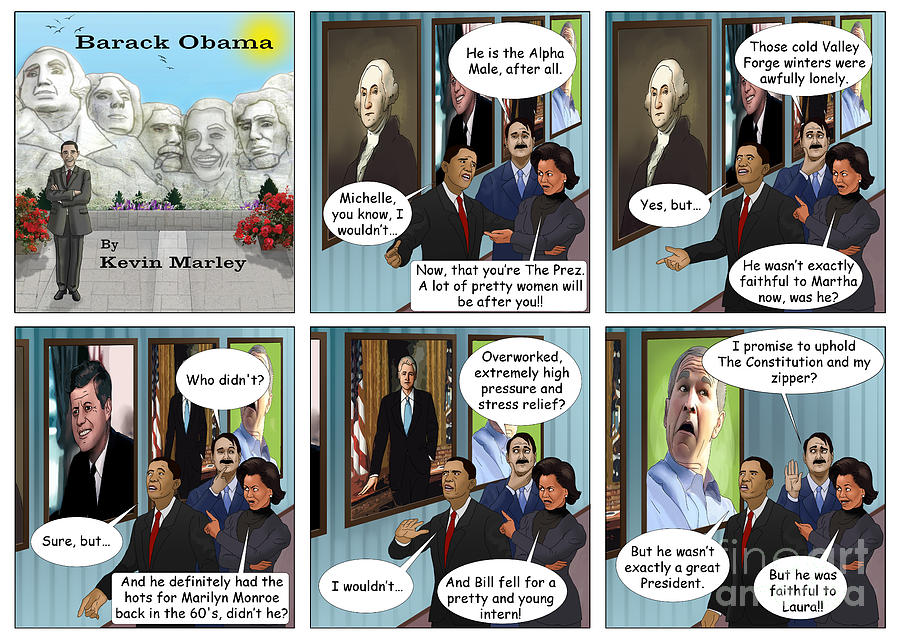 Barack  Obama Digital Art - Promise To Uphold The Constitution And My Zipper by Kevin  Marley