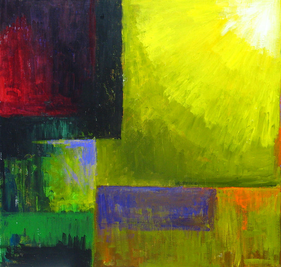 Abstract Expressionism Painting - Proper Light Source by Kazuya Akimoto
