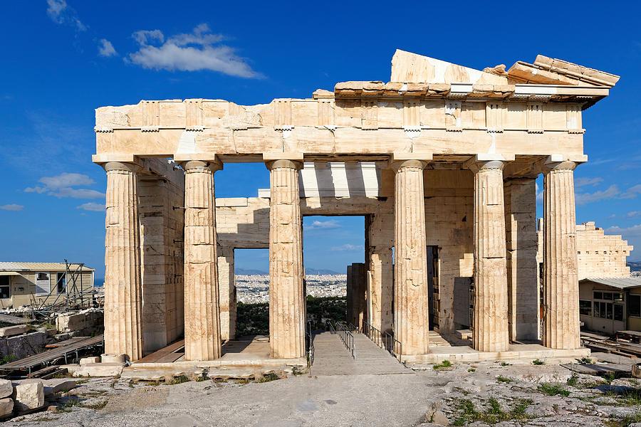 Acropolis Photograph - Propylaia - Greece by Constantinos Iliopoulos