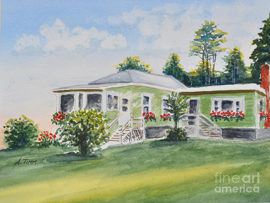 Prouts Neck Cottage Painting by Andrea Timm
