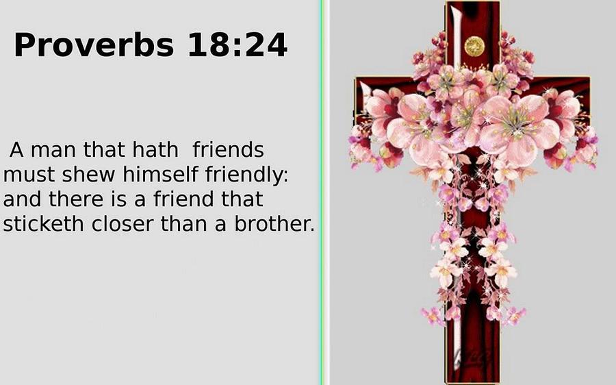 Proverbs Digital Art - Proverbs 18 24 by Ricky Jarnagin
