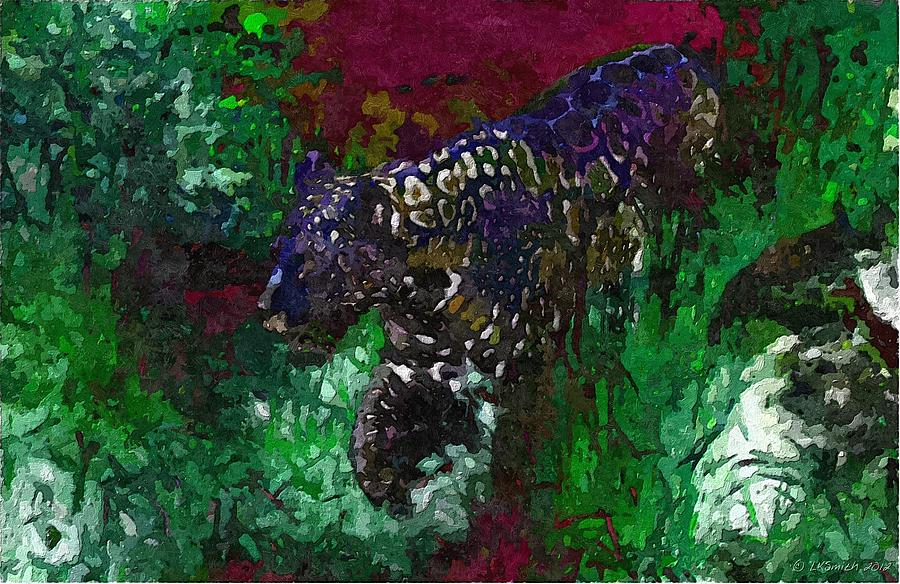 Jaguar Painting - Prowler by Lynda K Cole-Smith