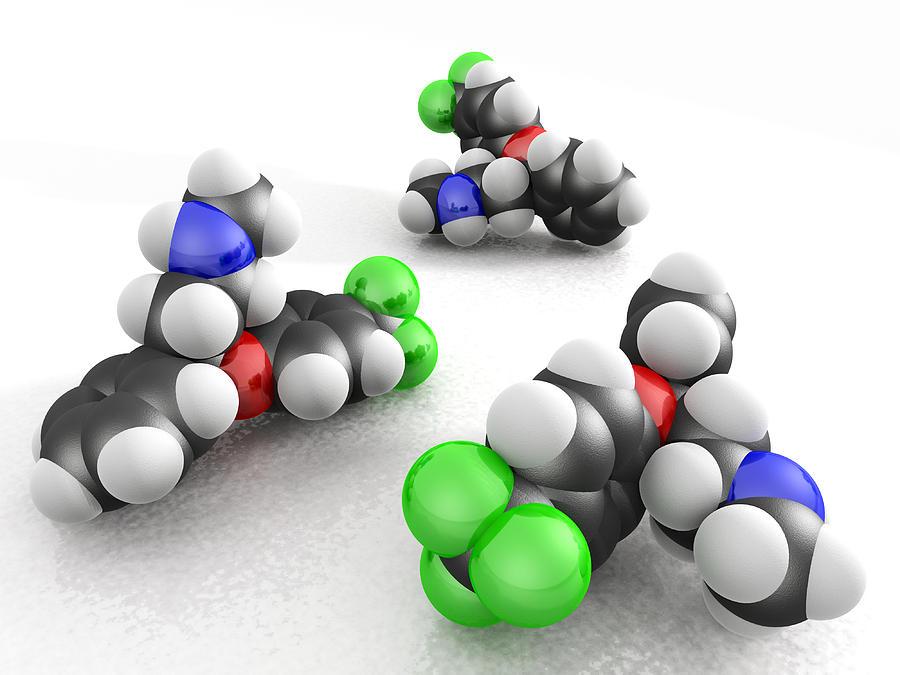 Prozac Photograph - Prozac Molecules by Phantatomix