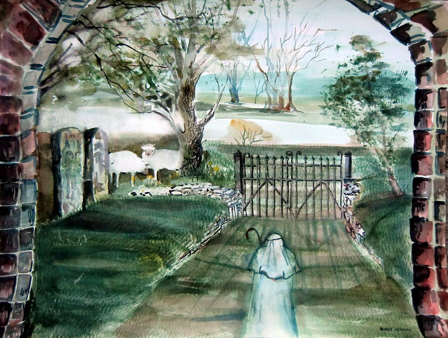Pastoral Painting - Psalm 23 by Mindy Newman