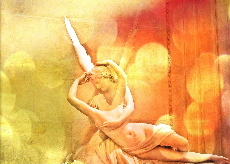 Psyche Revived By Cupids Kiss Photograph