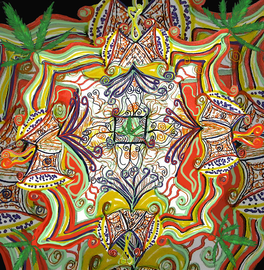 Psychedelic Drawing - Psychedelic Art - The Jesters Cap by Barbara Giordano