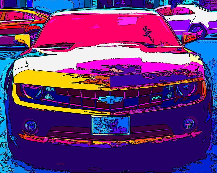 Chevrolet Photograph - Psychedelic Camaro by Samuel Sheats