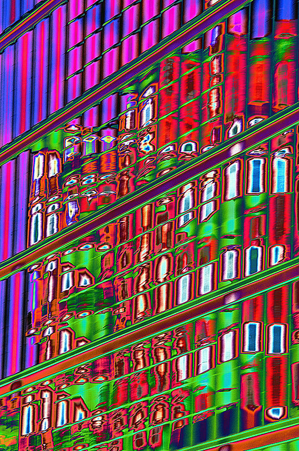 Psychedelic Photograph - Psychedelic Reflection Of Barcelona 12 by Richard Henne