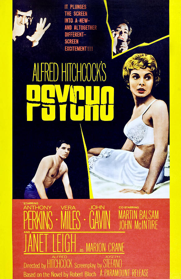 1960 Movies Photograph - Psycho, Clockwise From Top Left Anthony by Everett