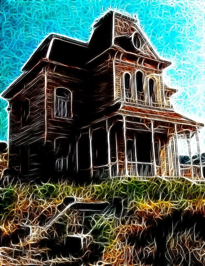 Psycho Painting - Psycho House by Paul Van Scott