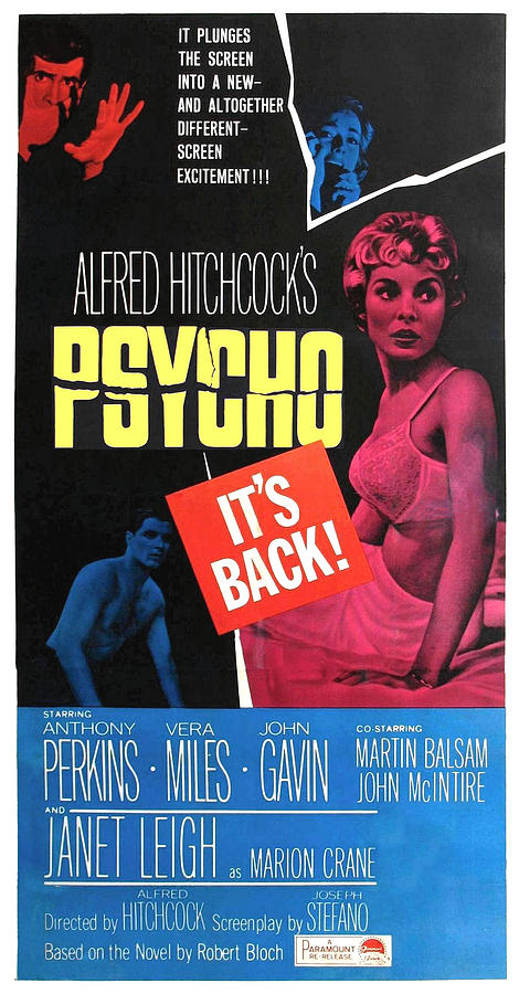 1960 Movies Photograph - Psycho, Top Left Anthony Perkins Top by Everett