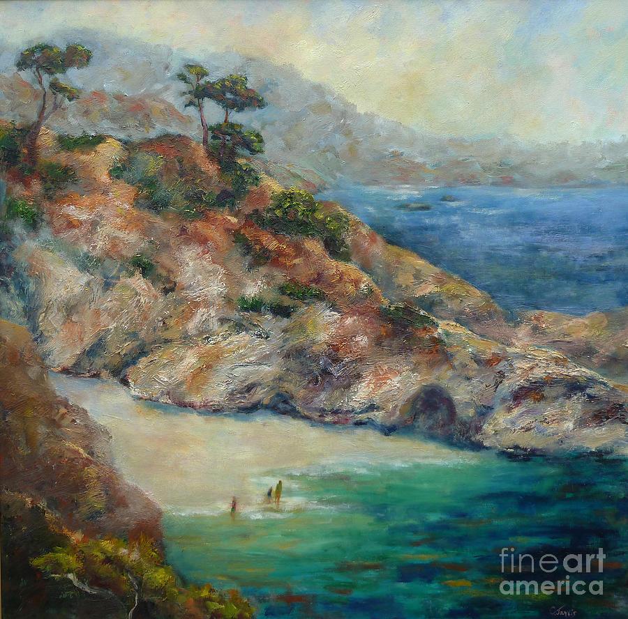 Oil Paintings Painting - Pt Lobos View by Carolyn Jarvis