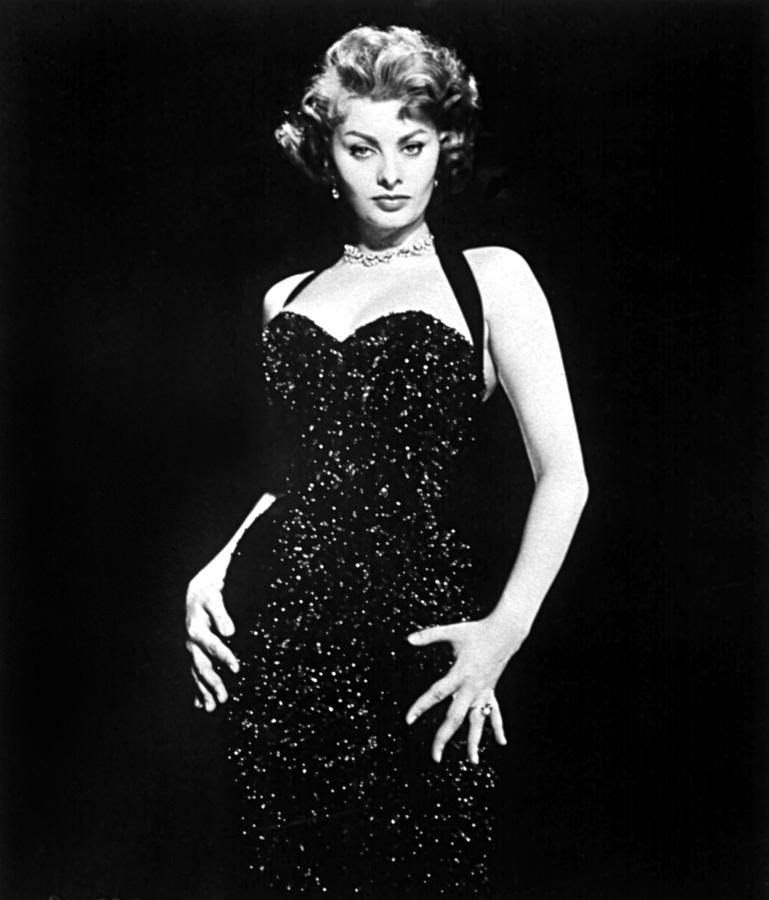 1950s Fashion Photograph - Publicity Shot Of Sophia Loren Used by Everett