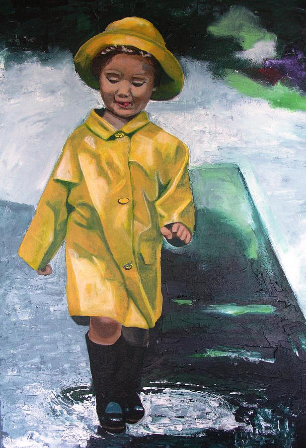 Child Painting - Puddles by Jacqui Simpson