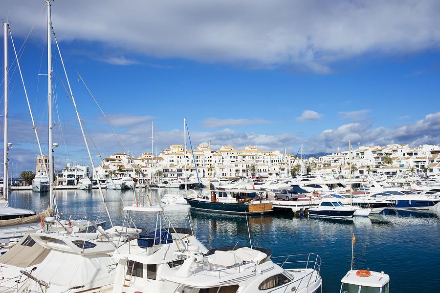 Marbella Photograph - Puerto Banus Marina by Artur Bogacki