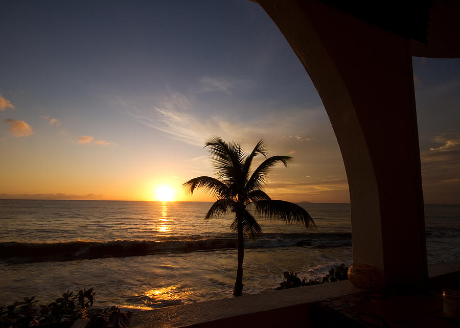 Sunset Photograph - Puerto Rican Sunset I by Tim Fitzwater