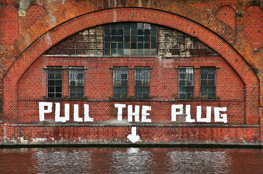 Berlin Photograph - Pull The Plug by Aurica Voss