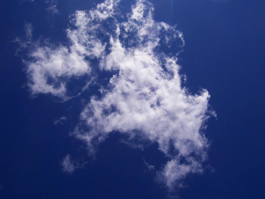 Cloud Photograph - Pulled Cotton Clouds by Corinne Elizabeth Cowherd
