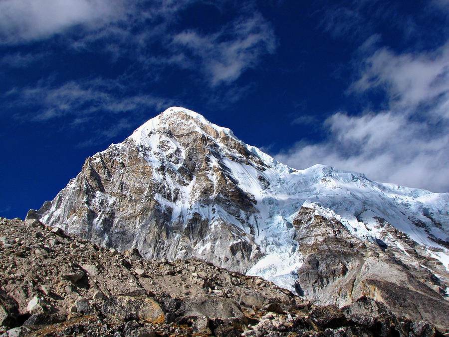 Horizontal Photograph - Pumori-everest Base Camp Trek-nepal by Copyright Michael Mellinger