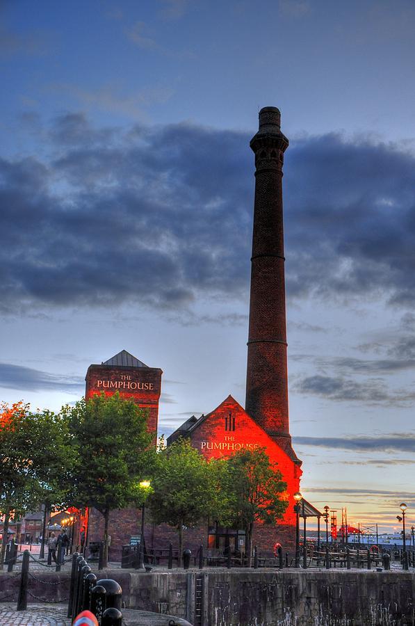 London England  Digital Art - Pump House Liverpool by Barry R Jones Jr