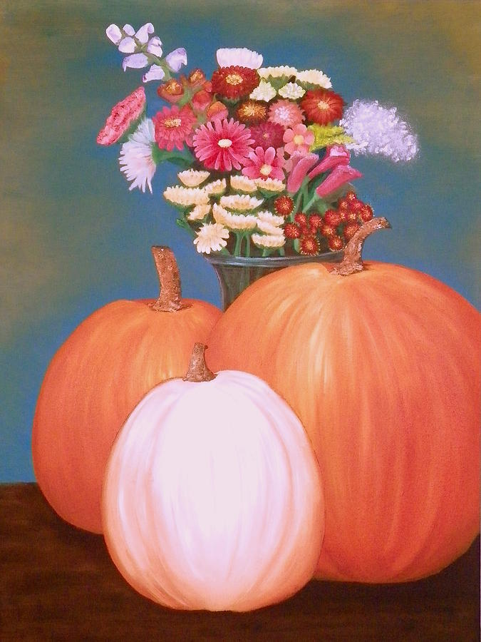 Pumpkin Painting - Pumpkin by Amity Traylor