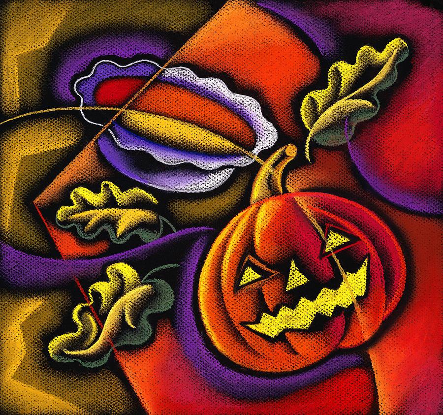 Pumpkin Fun Painting by Leon Zernitsky