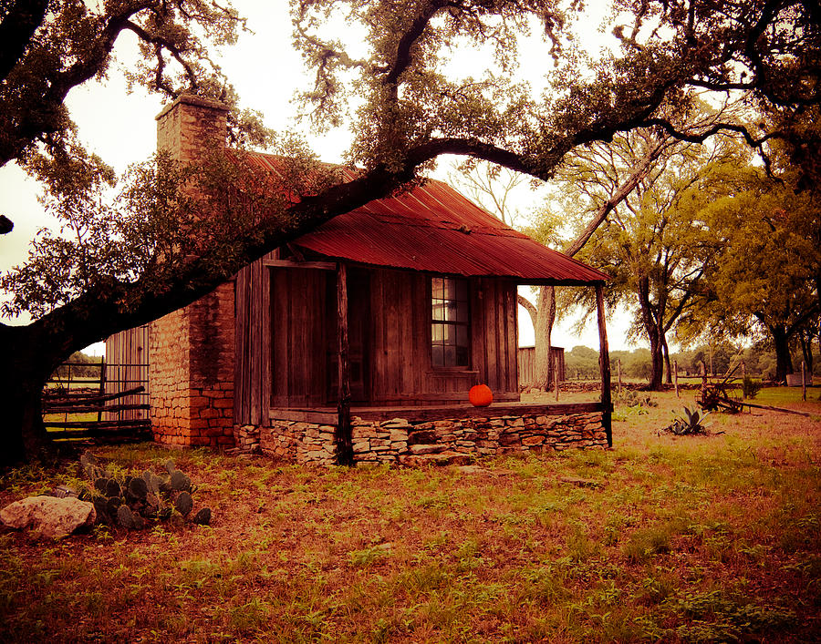 Old House Photograph - Pumpkin House by Sonja Quintero