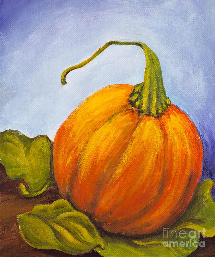Pumpkin Painting - Pumpkin by Nicole Okun