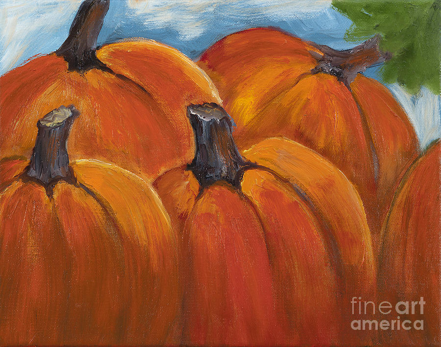 Easy Pumpkin Painting On Canvas