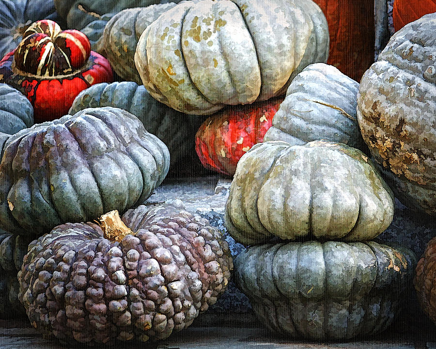 Autumn Photograph - Pumpkin Pile II by Joan Carroll