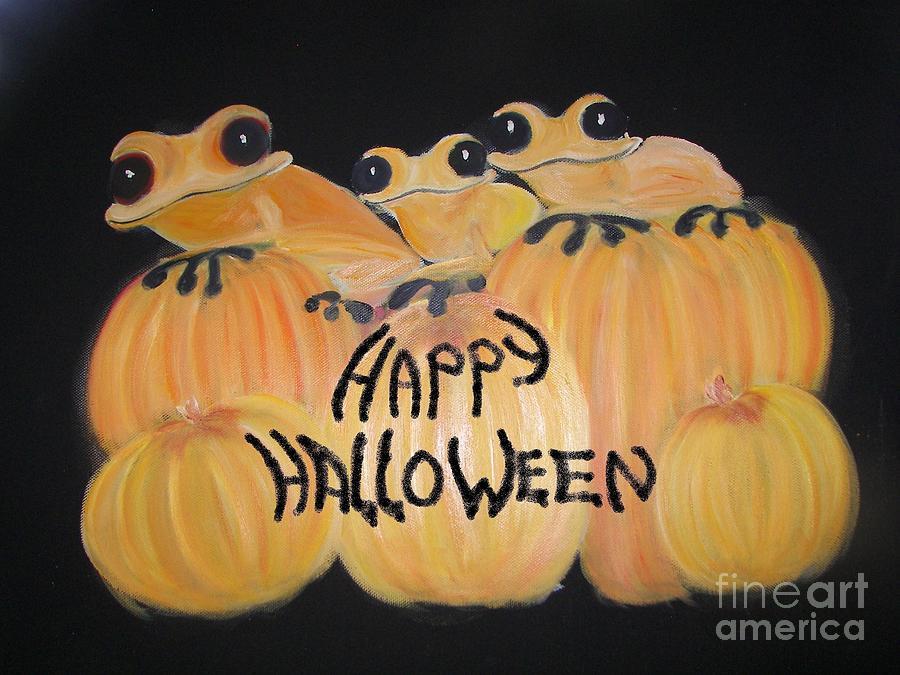 Halloween Painting - Pumpkin Two by Rachel Carmichael