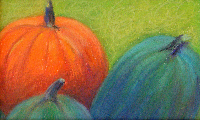 Pumpkins Pastel by Lisa Dionne