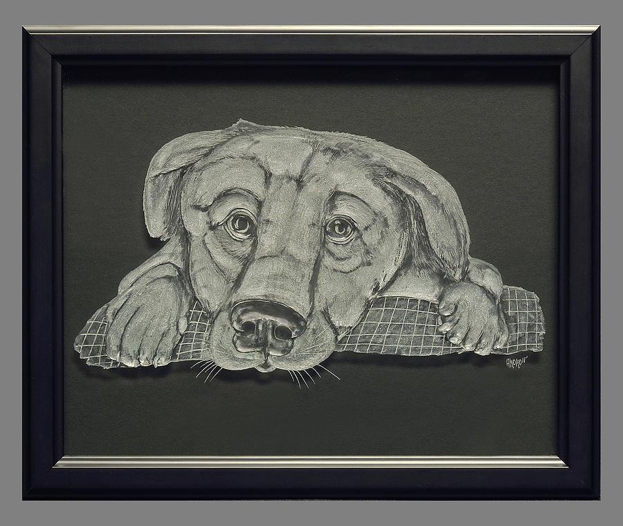 Fineartamerica Painting - Puppy by Akoko Okeyo