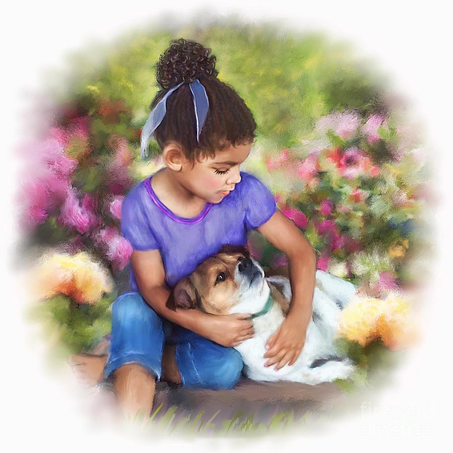 Puppy Love Mixed Media - Puppy Love by Dawn Serkin