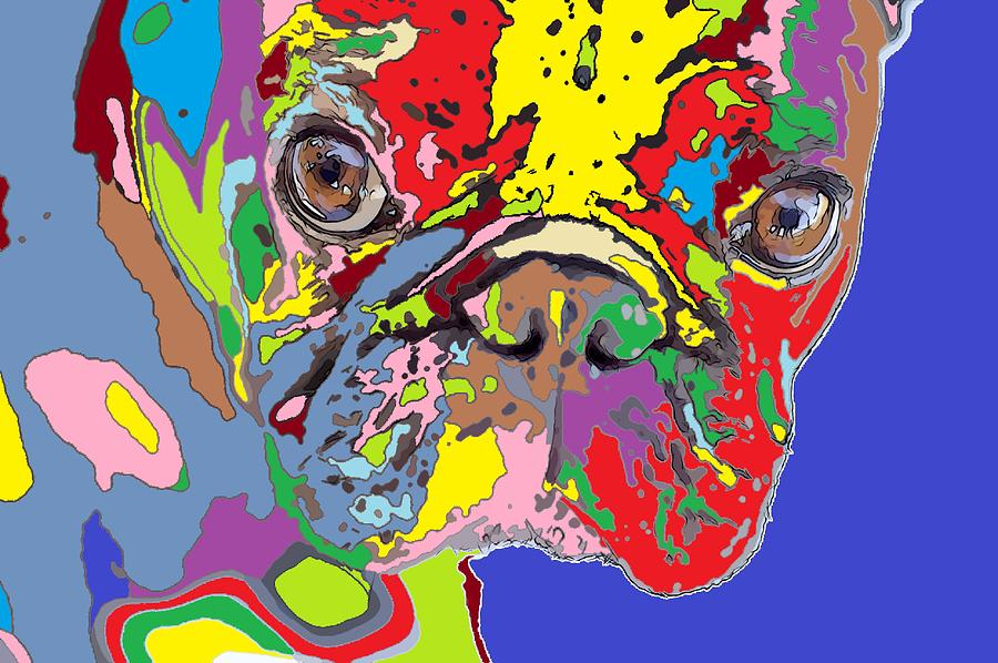 Puppy Painting - puppy Portrait 5 by Adrian Tovnodtov