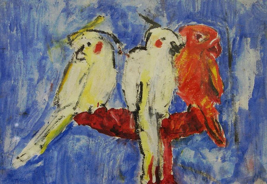 Bird Painting - Pure by Iris Gill