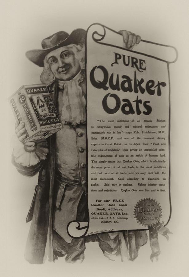 Quaker Photograph - Pure Quaker Oates by Bill Cannon