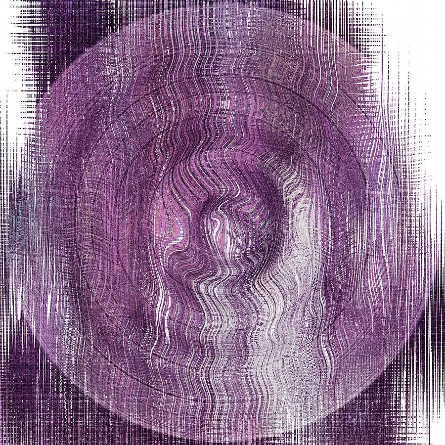 Digital Digital Art - Purple Concentric Circles by Bonnie Bruno