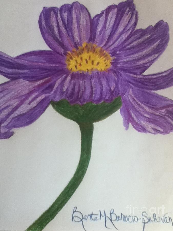Cosmo Painting - Purple Cosmo by Berta Barocio-Sullivan