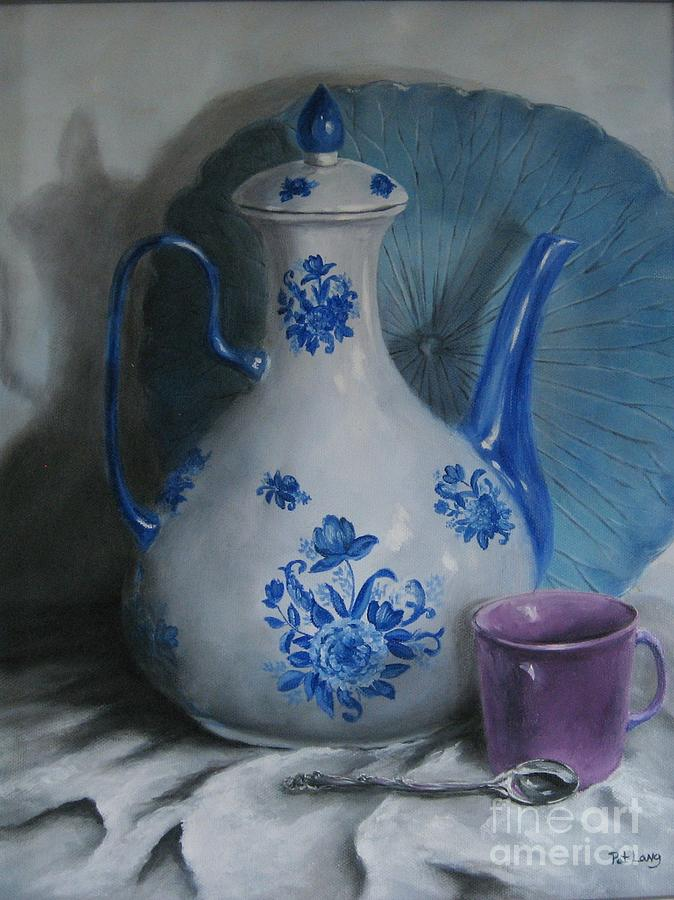 Oil Painting - Purple Cup by Patricia Lang